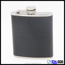 new portable 7oz stianless steel hip flask leather