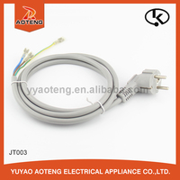 Korea 16A 3-pin plug power cord, Korea KC certified wire harness connecting the power cable, grey 1mm power cable