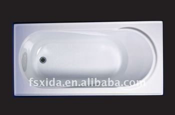 Acrylic construction bath tub