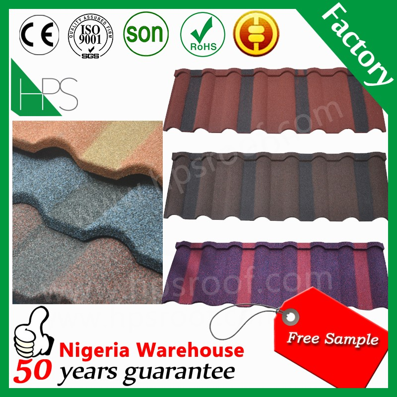 Colorful Stone Coated Metal Roof Sheets Milano type stone coated metal roof tile
