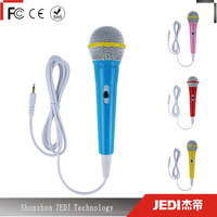 3.5 plug portable wired microphone mic karaoke singing kids microphone for gift_MO3994