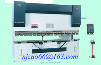CNC hydraulic metal plate press brake, box metal sheet folding machine