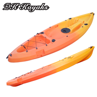 single plastic rowing kayak boat wholesale used for fishing