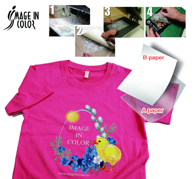 Laser dark no cut heat transfer paper
