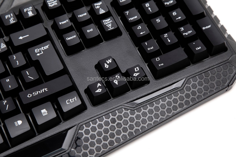 Backlit gaming keyboard with ABS keybaord keys, mechanical keyboard, laptop parts