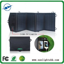 Outdoor Portable Solar Powered Charger solar laptop charger fabric foldable solar panel