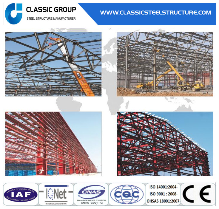 Varies Colors of Sandwich Panel Steel Structure House/Workshop/Warehouse