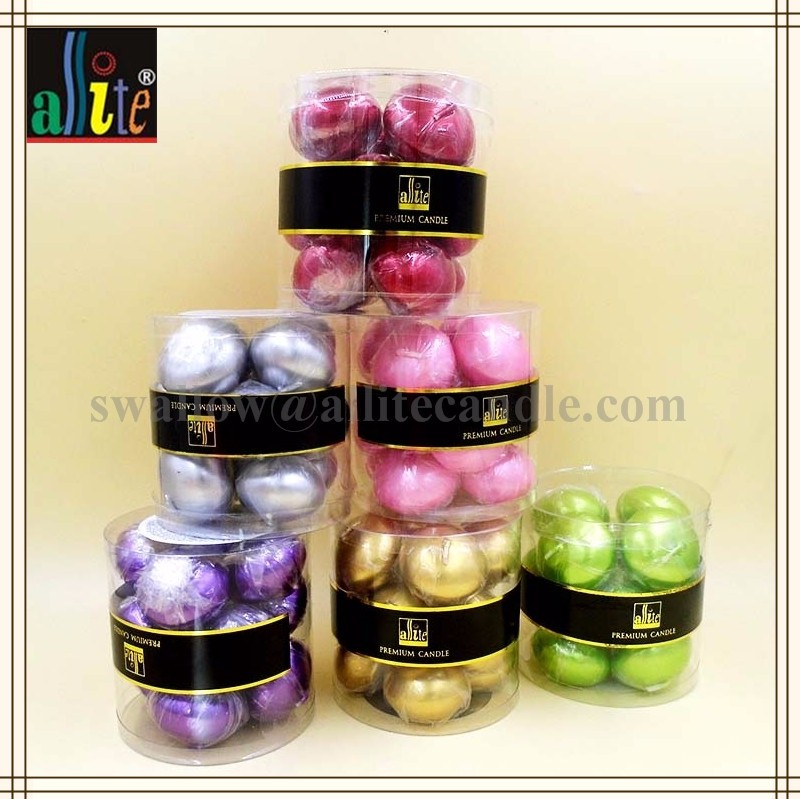 Figure & water floating colorful paraffin wax tealight Floating candle