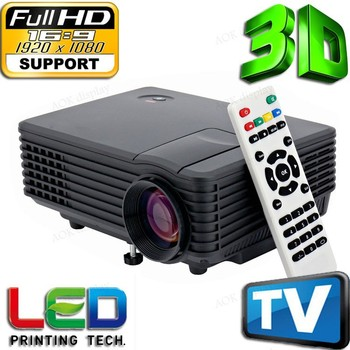 HD 1080P Mini LCD Image System Multimedia LED Projector Home Theater Cinema Digital Projectors TV ,Game proyector,video projetor