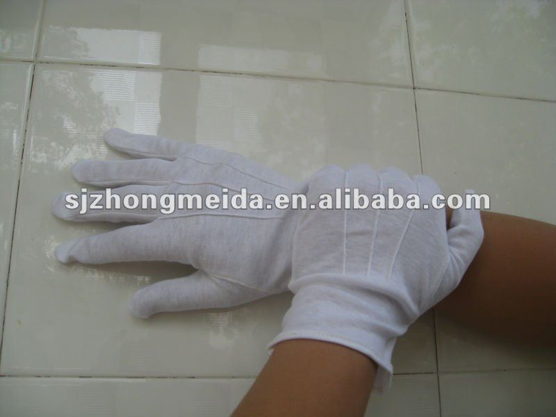 white cotton hand knitted gloves waiters cotton gloves
