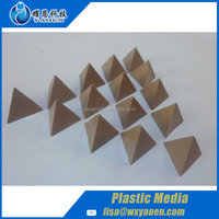 High mesh Plastic Media Tetrahedron Shape polishing abrasives
