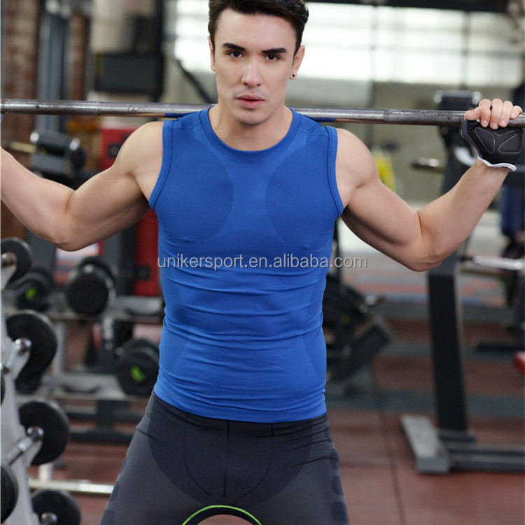 Hot sale all season dry fit men's sport tops, gym tops, fitness tops