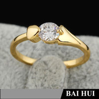 Latest 18k Gold Brass Crystal women's & wedding Rings Wholesale Jewelry Manufacturers