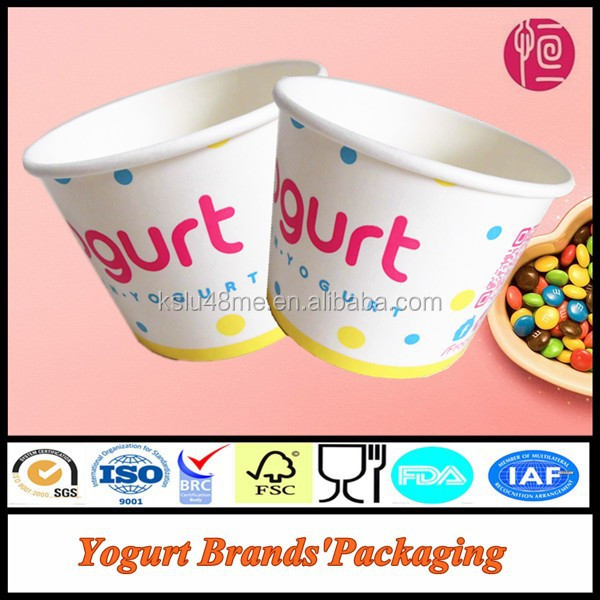 Disposable Frozen Yogurt Brands' Packaging