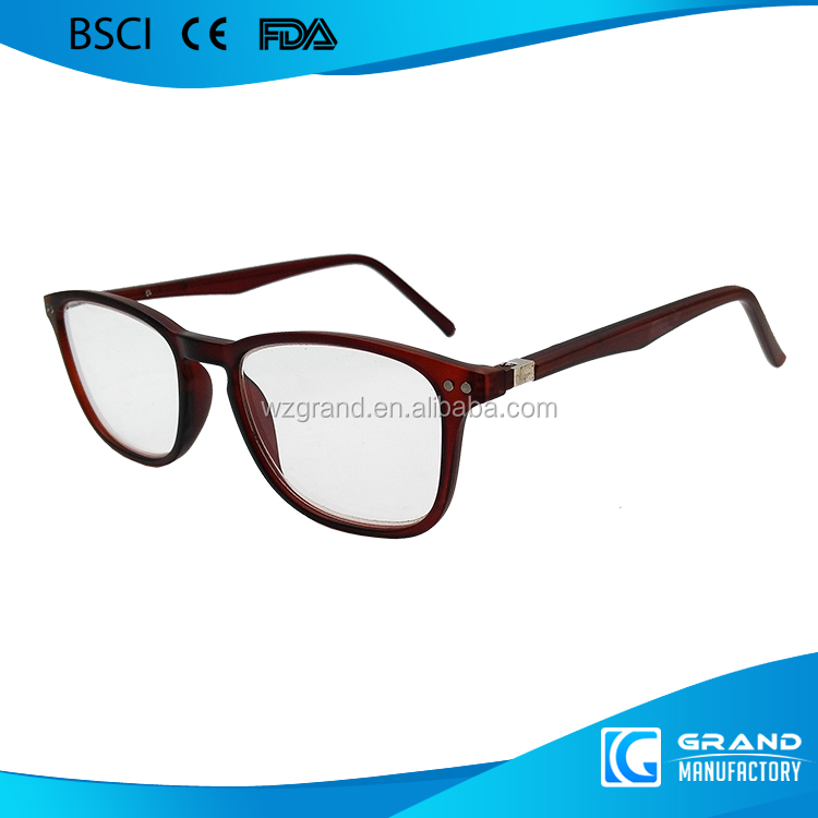 wholesale big frame round lens TR90 reading glasses with metal hinges