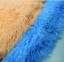 100% Long Hair Mongolian Lamb Fur Skin / Sheep Fur Plate