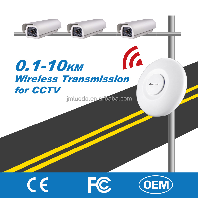 Manufacture Wireless 3km Transmission Kit for RJ45 Highway CCTV IP Camera2.4G/5.8G Frequency