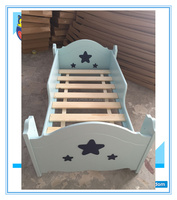 Toddler Bed Pine Wood Kindergarten Furniture
