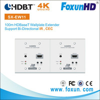HDBase-T WallPlate Extender Over single Cat5e/6 Cable