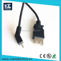 Made in china mobile phone micro usb cable bare copper am to micro b usb 2.0 extension cable micro/mini/am optional