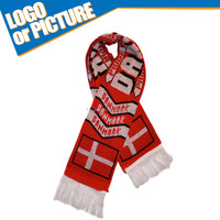 Euro Cup Football Product Denmark Danmark Acrylic Scarf National Crest Fan scarf
