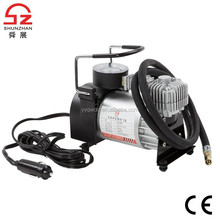 CE 150PSI portable 12 volt automatic tire inflator metal body mini air compressor 12v