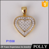 China factory wholesale heart shape 925 silver pendant necklace