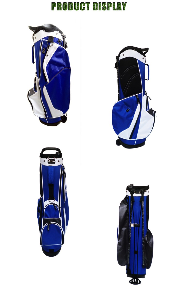 Lightweight OEM Custom Logo Golf Stand Bag With Integrated Handle