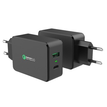 passed KCC authentication USB Charger,multi plug usb QC3.0 Charger,QC3.0 Type-c usb hub mobile phone holder