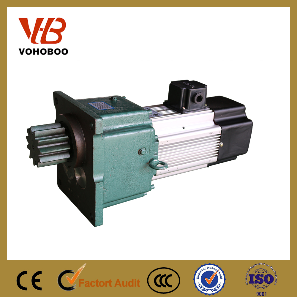 electric motor with hub gear