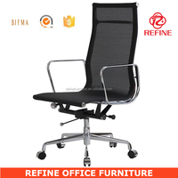 black swivel office mesh high back executive chair RF-S087