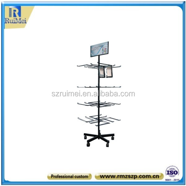 Floor Standing 4-Tier Cell Phone Mobile Charger Display Rack