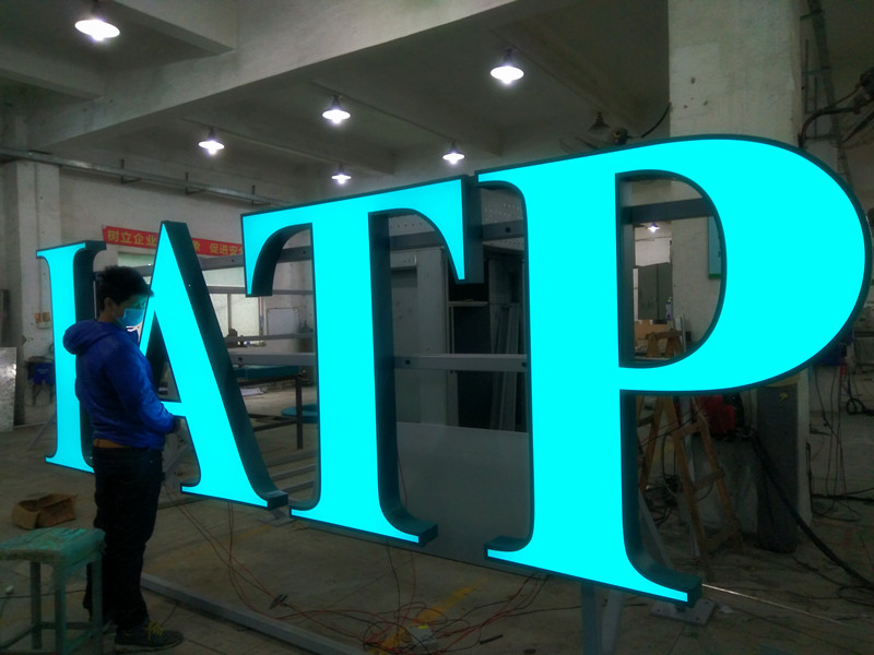 Factory of 3D metal led channel letter love sign Led marquee letters digital signage totem outdoor digital signage