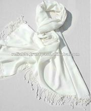 White Pashmina Shawl ( always avalaible)