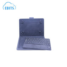 Custom layout wireless tablet keyboard with leather case
