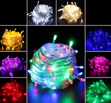 10 meter colorful led twinckle light Red Yellow Blue White Green Warm White Purple Pink led christmas light with controller