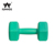Plastic hex vinyl gym hand lifting weights filled cement dumbbell for gym