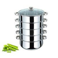 Large capacity 40cm 5 Layer Stainless Steel Steamer Pot with 4 mesh steamers