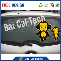 Cheap wholesale uv-proof PVC vinyl custom die cut windshield sticker