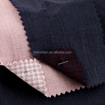 100% linen fabric wholesale,heavy linen fabric for coat,double layer yarn dyed linen