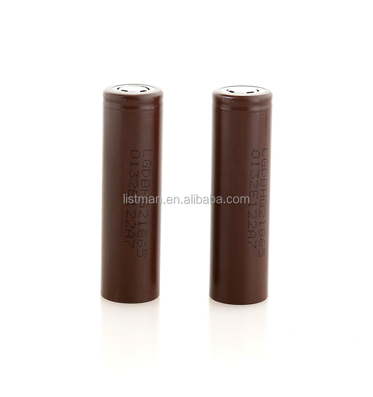 electric scooter lithium battery LG HG2 18650 akku battery authentic LG 18650 3000MAH 3.6v inr18650 hg2 battery flat top