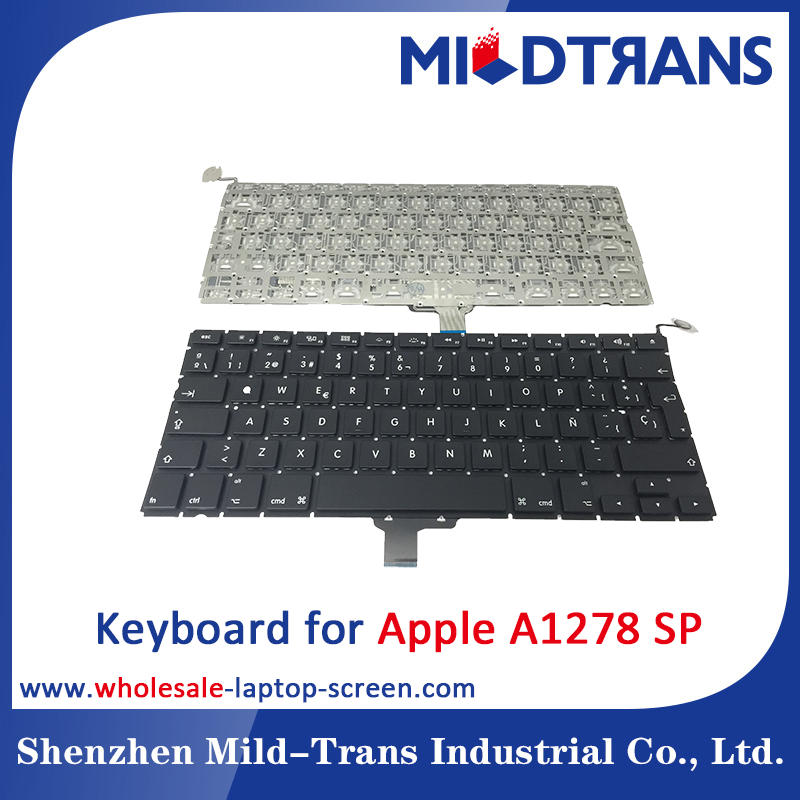 Laptop Keyboard replacement for Apple A1278 SP spanish layout Black