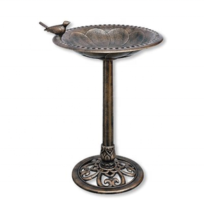 Wrought Iron Bird Bath/Pedestal Metal Bird Feeder/Antique Bronze Bird Bath For Garden Decor