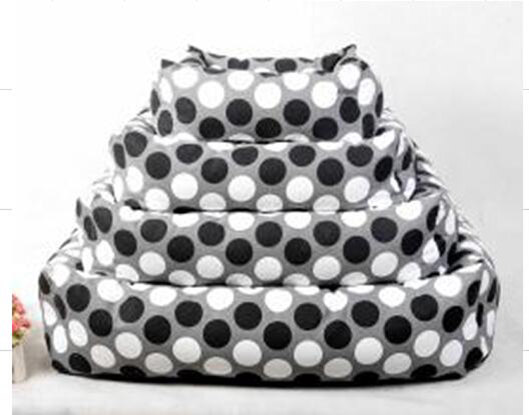 black white canvas dog bed dog accessory