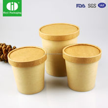 High quality PE coated paper carton cup bowl