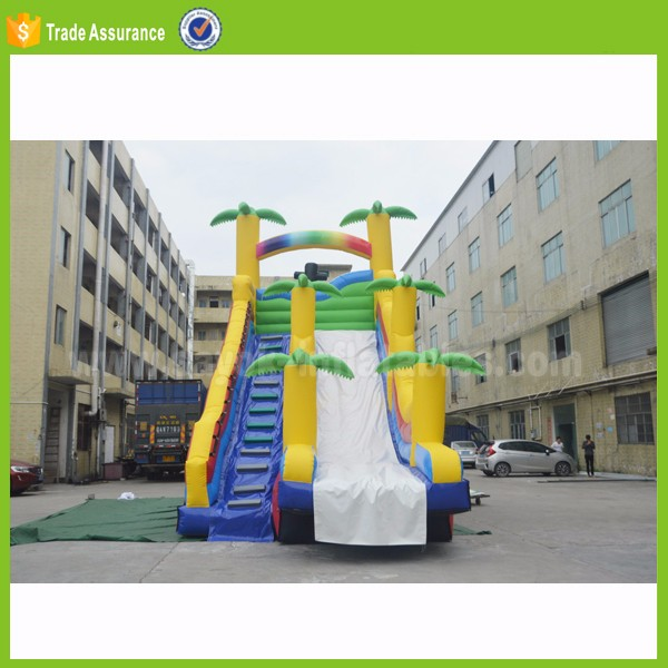 wholesale inflatable bounce house bungee water trampoline bouncer with slide