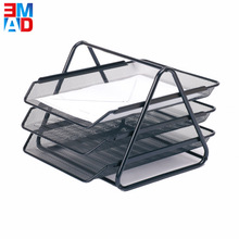 A4 paper office document 3 layer Desktop black mesh detachable file tray