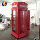 Professional OEM customized traditional metal antique red telephone booth