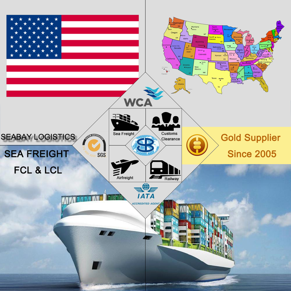 Sea/Ocean Shipping Charges Rates Services to US USA United States from China Shenzhen Guangzhou Shanghai Ningbo Qingdao...