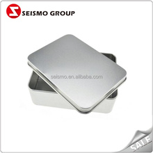 Rectangle Tinplate Blank Customized Brand Name Aluminum Gift Box
